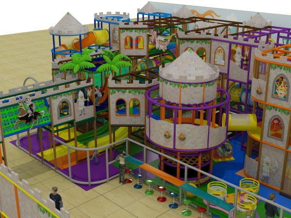 3 level castle playground