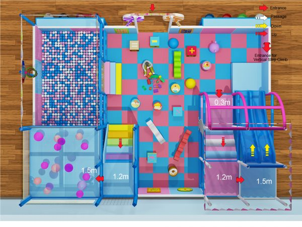 3 level candy playground